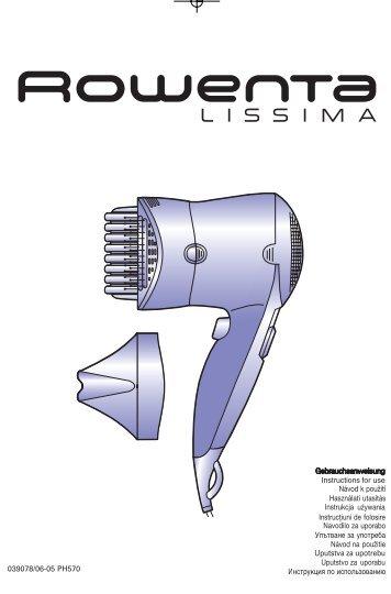 Rowenta LISSIMA PH5704 - LISSIMA PH5704 Magyar (Hungarian)