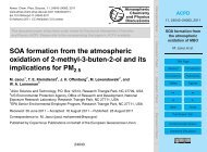 SOA formation from the atmospheric oxidation of MBO - ACPD
