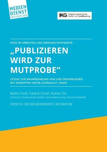 """""""PUBLIZIEREN WIRD ZUR MUTPROBE"""""""