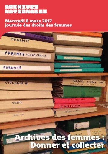 Archives des femmes  Donner et collecter