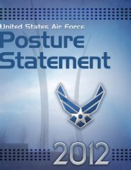 United States Air Force Posture Statement - Air Force Magazine