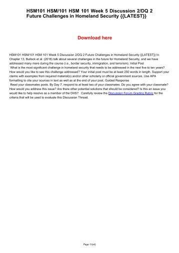 HSM305 HSM/305 HSM 305 Week 5 DQ 2/Discussion 2 Recruitment -[NEW]