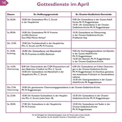 Gemeindebrief Frühjahr 2017