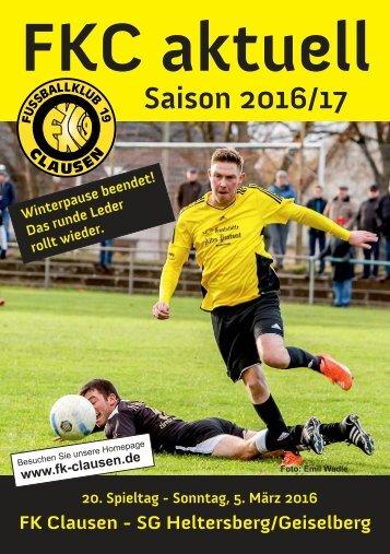 FKC Aktuell - 20. Spieltag - Saison 2016/2017