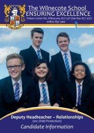 Deputy Head Prospectus - The Wilnecote School 1