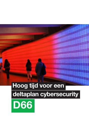 Hoog tijd voor een deltaplan cybersecurity