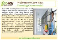Floor Care Service in New Jersey |ECO-WAY Cleaning Commercial