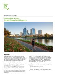 Sustainability Victoria Climate Change Social Research