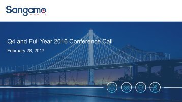 Q4 and Full Year 2016 Conference Call