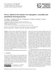 Peroxy radicals in the summer free troposphere - Atmospheric ...