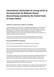 Call for applications - international scholarship based in Braunschweig/Germany