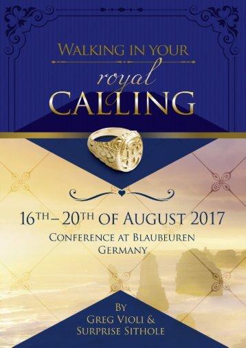 Conference Blaubeuren 2017 En