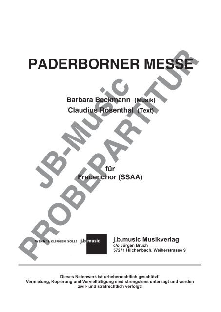 Paderborner Messe (Frauenchor-Ausgabe)