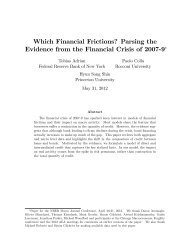 Which Financial Frictions? - National Bureau of Economic Research