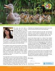 Le Nichoir News