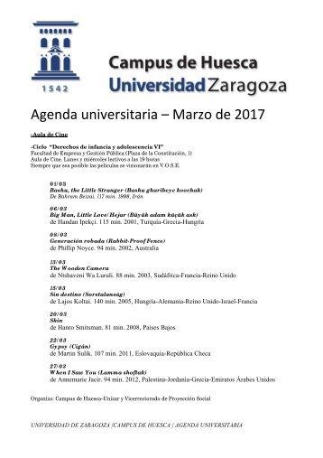 Agenda universitaria – Marzo de 2017