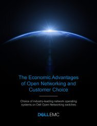 The Economic Advantages of Open Networking and Customer Choice