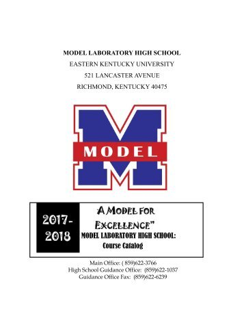 MODEL LABORATORY HIGH SCHOOL Course Catalog