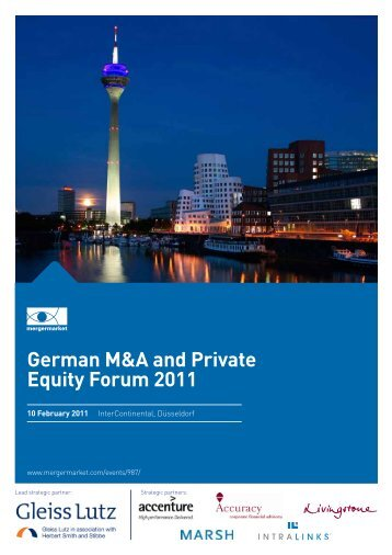 German M&A and Private Equity Forum 2011 - Mergermarket