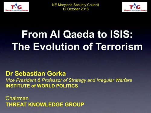 From Al Qaeda to ISIS The Evolution of Terrorism
