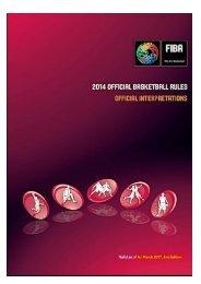 REGLAS OFICIALES DE BALONCESTO 2014 INTERPRETACIONES OFICIALES