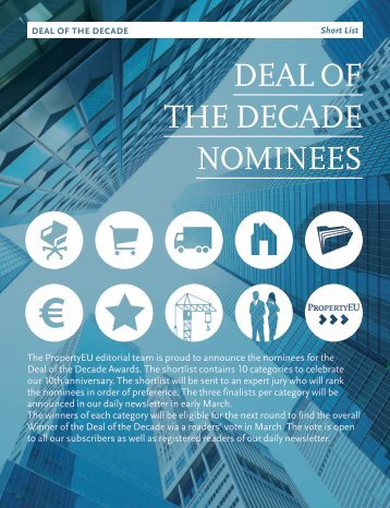 DEAL OF THE DECADE NOMINEES