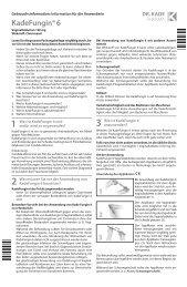 beipackzettel kadefungin 6 vaginaltabletten - Dr. Kade