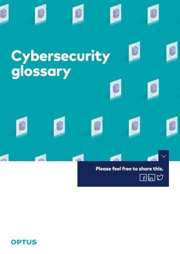 Cybersecurity glossary