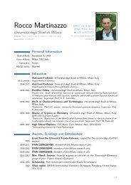 Università degli Studi di Milano Homepage: webhttp://users.unimi.it ...