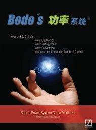 Bodo's Power System China Media Kit