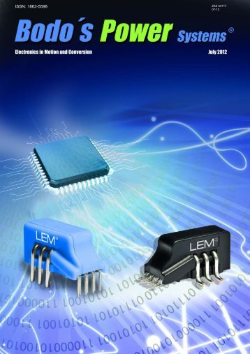 Electronics in Motion and Conversion July 2012 - Bodo's Power
