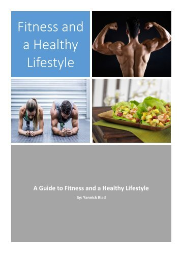 Fitness and a Healthy Lifestyle Personal Project 2017