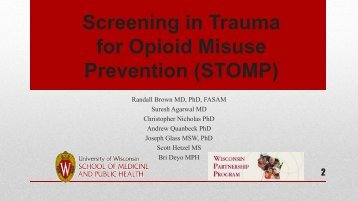 for Opioid Misuse Prevention (STOMP)