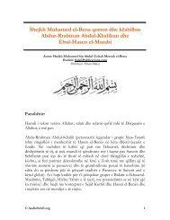 Shejkh Muhamed el-Bena qorton dhe këshillon