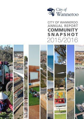 Annual Report Community Snapshot 2015/2016