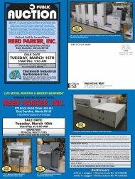 reed parker, inc. reed parker, inc. - Cincinnati Industrial Auctioneers ...