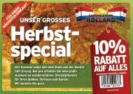 Herbst- special - Gartencenter Holland