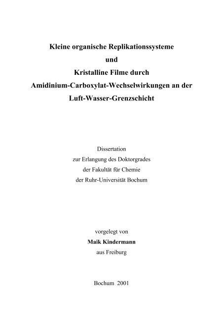 Maik Kindermann - Ruhr-Universität Bochum