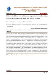 Effect of leaf litter on seed dormancy, germination and seedling survival of three tropical forest tree species in Ghana