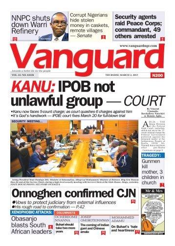 02032017 - KANU: IPOB not unlawful group — COURT