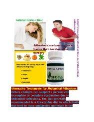 Abdominal Adhesions Diet