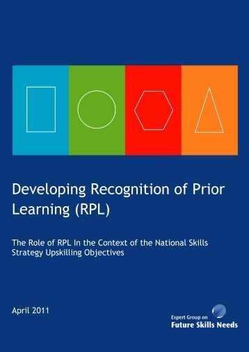 Developing Recognition of Prior Learning (RPL) - Skills Ireland