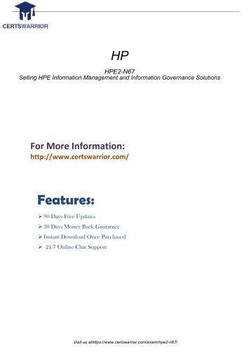 HPE2-N67 Practice Exam
