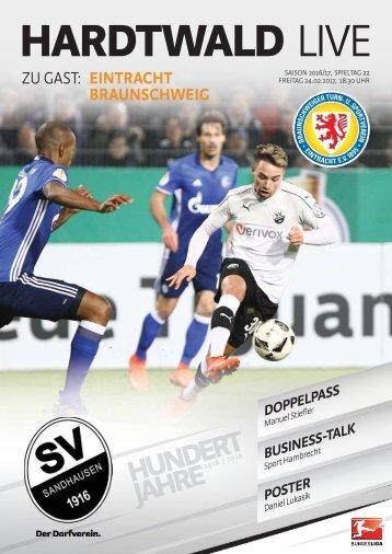 Hardtwald Live, Nr. 12, 16/17, SVS - Eintracht Braunschweig