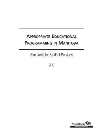 Standards for Student Services - Education and Literacy ...
