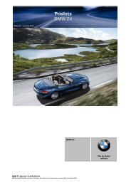 Price List BMW 7-Series Prislista BMW Z4