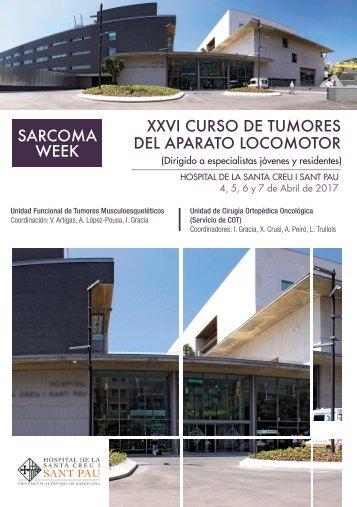 SARCOMA WEEK XXVI CURSO DE TUMORES DEL APARATO LOCOMOTOR