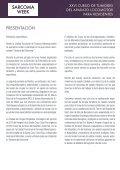 SARCOMA WEEK XXVI CURSO DE TUMORES DEL APARATO LOCOMOTOR - Page 4