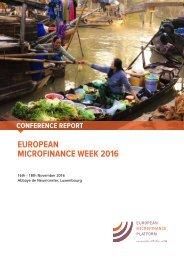 EUROPEAN MICROFINANCE WEEK 2016