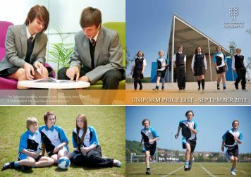 UNIFORM PRICE LIST - SEPTEMBER 2012 - Folkestone Academy